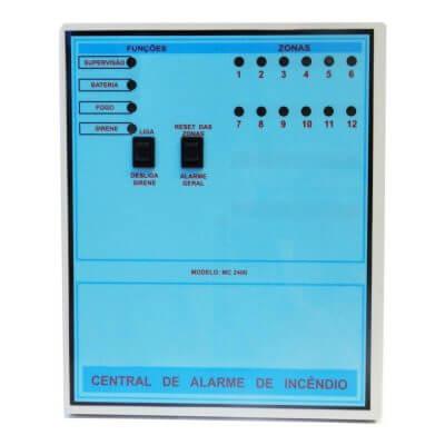 central de alarme convenciona 12 pontos - Metalcasty